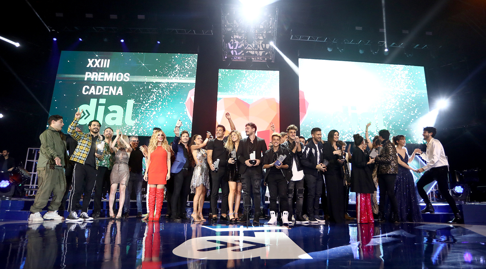 Foto de familia XXIII Premios Cadena Dial
