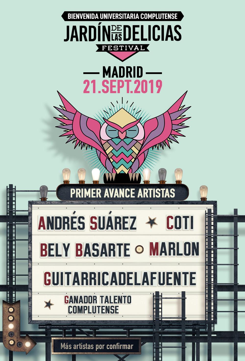 Jardín de las Delicias Festival 2019_Cartel1