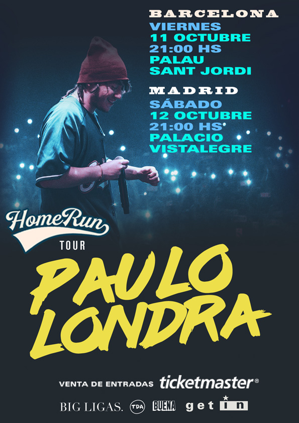Paulo Londra HomeRun-2FECHAS-RRSS