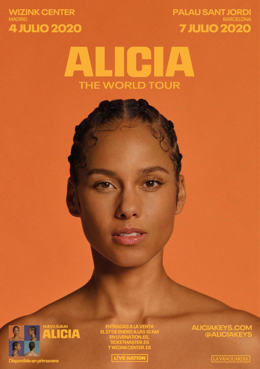 Alicia Keys 2020 Tour - Cartel