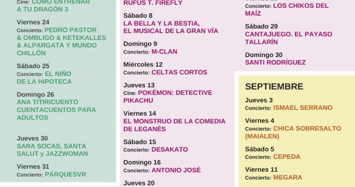 Lunas del Egaleo 2020 de Leganés sigue sumando nombres a su cartel para el mes de agosto con Dani Fernández o M-Clan entre otros.
