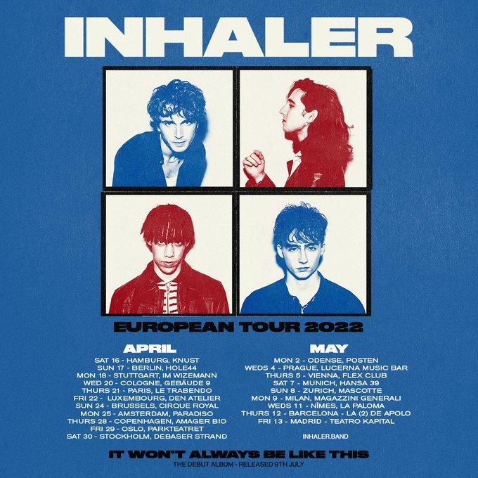 Inhaler - Madrid, Barcelona