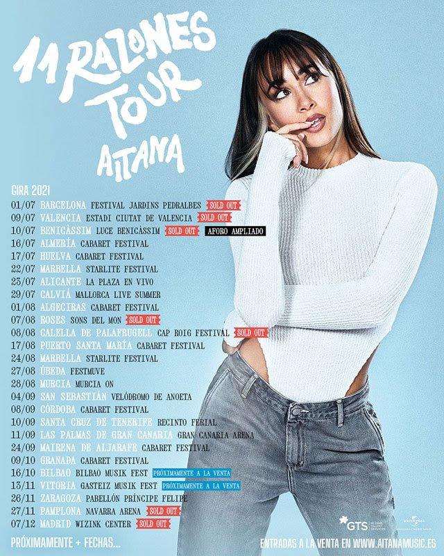 Aitana - 11 Razones Tour, sold out